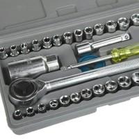 Kunci Sok 40 Pcs Multipurpose Combination Socket Wrench Set