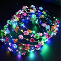 Bando Mahkota Bunga Dengan Lampu LED Untuk Anak Perempuan
