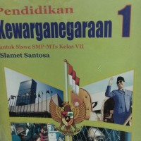 buku PPKn untuk smp kelas 1 Bse