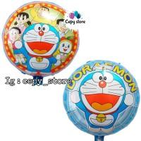 Balon Foil Doraemon Bulat / Balon Doraemon