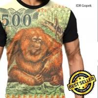 Kaos Baju Gambar Duit Gopek Uang 500 Kertas Fullprint