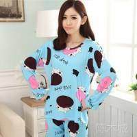 OKHISHOP - PP Set Baju tidur piyama import baju n celana panjang wanit
