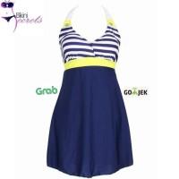 Baju Renang Wanita Dewasa Bikini Swimsuit Swimwear Dress Rok Skirt HQ