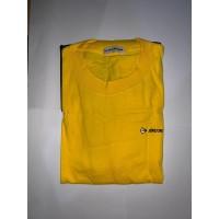 Baju kaos Dunlop warna kuning hitam bahan mantap ukuran L