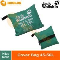 Rain Cover bag 45-50 Liter JWS Jack Wolfskin tas ransel Daypack Hijau