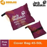 Rain Cover bag 45-50 Liter JWS Jack Wolfskin tas ransel Daypack Pink