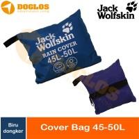 Rain Cover bag 45-50 Liter JWS Jack Wolfskin tas ransel Daypack Navy