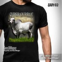 Baju Kaos SAPI KURBAN Kaos Gambar SAPI LIMOSIN SUPER IDUL ADHA 03