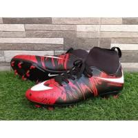 sepatu nike hypervenom new high bola dewasa merah hitam