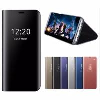 Samsung A30/A50/A70 Case Slim View Smart Flip/Luxury Clear Mirror Case