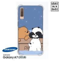 We Bare Bears 05 Casing Samsung Galaxy A7 2018 Anti Crack Case HP