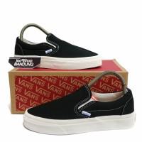Sepatu Vans Vault Slip On OG Black White Hitam putih 36-44 Premium