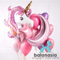 Balon Foil Unicorn Star & Moon Set