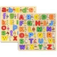 Gober - Puzzle Kayu Timbul / Puzzle Chunky Alfabet