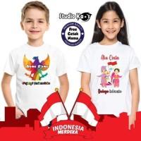 Baju Kaos Anak 17an Indonesia merah putih SK Fashion - Size 0