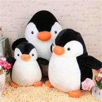 [Fol & Ha] Bantal Boneka Plush Bentuk Pinguin Lucu Ukuran 20Cm U Hadia