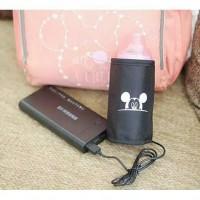 Portable Bottle Warmer Mickey USB Power Bank Penghangat Susu Bayi