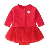 baby dress baju bayi perempuan girl dress tutu party 2 in 1 cardigan