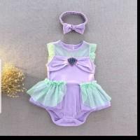 baju bayi jumper anak perempuan kostum princess ariel mermaid lucu
