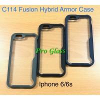 C114 Iphone 6 / 6s Fusion Hybrid Premium Armor Case Silicone Acrylic