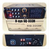 ampli x sys 555h power amplifier karaoke audio sistem mixer sound syst
