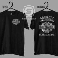 Tshirt kaos baju pria big size 2xl 3xl 4xl HARLEY DAVIDSON BARNET