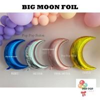 Balon Foil Bulan Sabit / Moon JUMBO