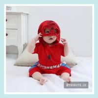 Jumper Bayi Romper Jumpsuit Anak Laki Cowok Kostum Spiderman Superman