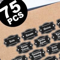 sticker label nama bumbu dapur pantry jar pet botol toples desain 2
