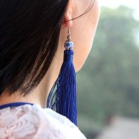 Anting Korea Colorful Ceramic Tassel Ears REA699