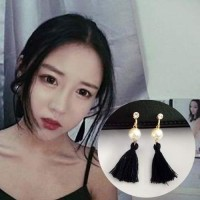 Anting Korea Pearl Tassel Ear Clip No Needle REA394