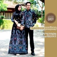 Baju couple gamis batik kemeja sarimbit katun halus 2666