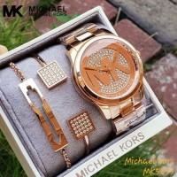 Jam Tangan Wanita Merk Michael Kors Original Type : MK 5853 Free Box 2
