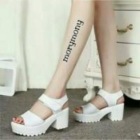 Sepatu Wanita High Heels Docmart Putih