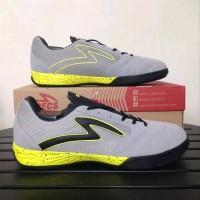 Sepatu futsal specs murah Metasala Rival Grey stabilo b OL2