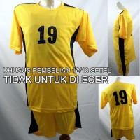 Setelan Baju/Kaos Sepak Bola/Futsal Team/Tim Anak Kuning