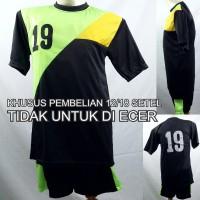 Setelan Baju/Kaos Sepak Bola/Futsal Team/Tim Anak Hitam 2