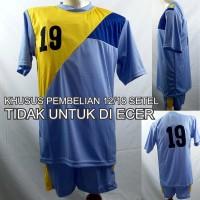Setelan Baju/Kaos Sepak Bola/Futsal Team/Tim Anak Biru 2
