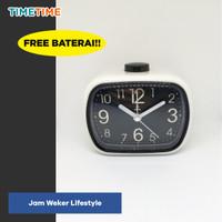 Jam Weker Beker Meja Minimalis Lifestyle Modern FREE BATERAI MURAH