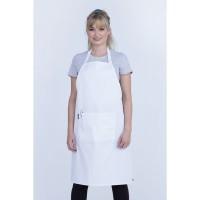 Apron Cotton Full Putih kain drill premium