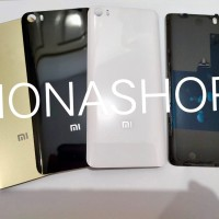 Backdoor Tutupan Baterai Backcover Xiaomi Mi5 Mi 5 Original 100% Kaca - Hitam