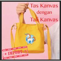 Tas Korea Mini Tali Kanvas Cutey Unicorn 2019 (WYK21F)