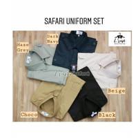 Baju Seragam Safari / Setelan Security / Satpam / Seragam Supir