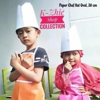 Satu set Celemek Anak + Topi Koki