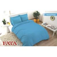 Bed cover Single 120 x 200 Fata Polos Emboss warna Hawai OCean Biru
