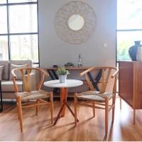 kursi makan cafe bangku stool teras coffee table minimalis rotan