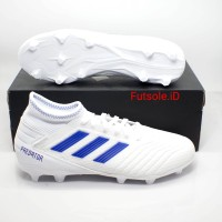 Sepatu bola Adidas Predator 19.3 White FG Original