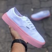 Sepatu Casual Vans Autentic Wanita White Pink