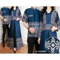 New Baju Batik Cauple AL CP MAHARANI BAJU COUPLE PRIA WANITA