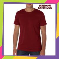 Baju Kaos Polos Distro - Maroon
